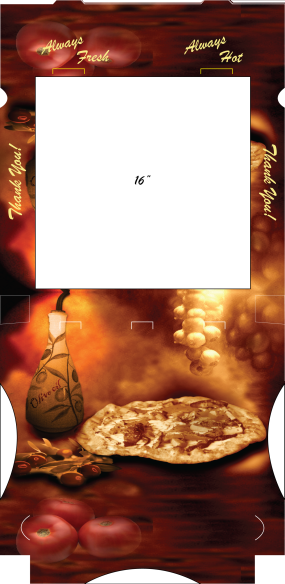 Pizza Box Design and layout